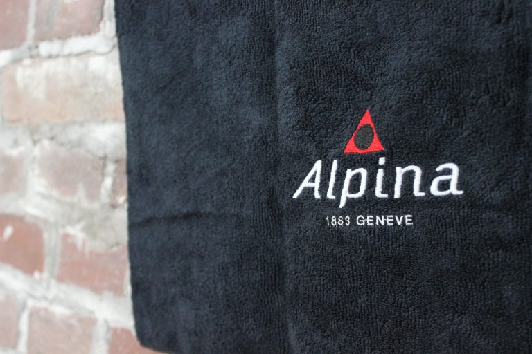 Günstig besticktes Handtuch für Hotels